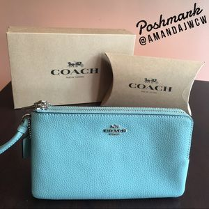 Coach Large Double Zip Wallet - New with tags!